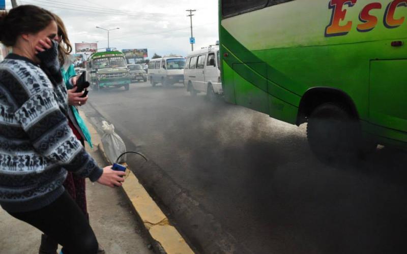 Monitoring roadside emission (2015, El Alto, Bolivia)