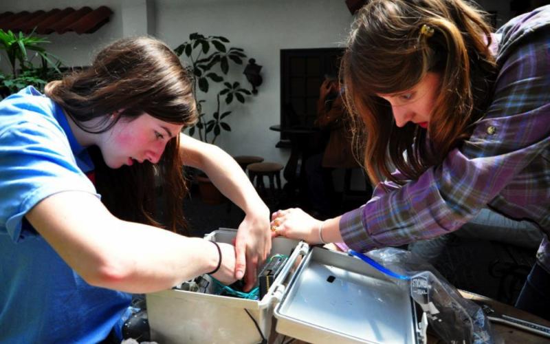Adjusting a low-cost sensor prototype (2015, La Paz, Bolivia)
